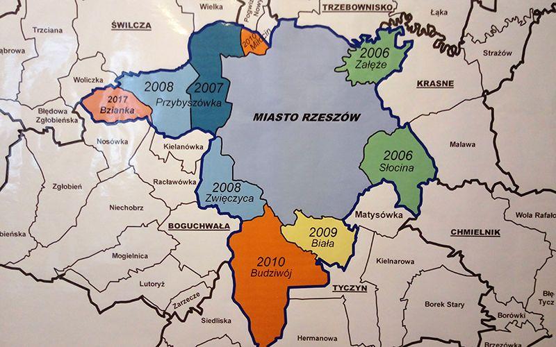 Nieruchomości Rzeszów, Miłocin i Matysówka w granicach Rzeszowa.